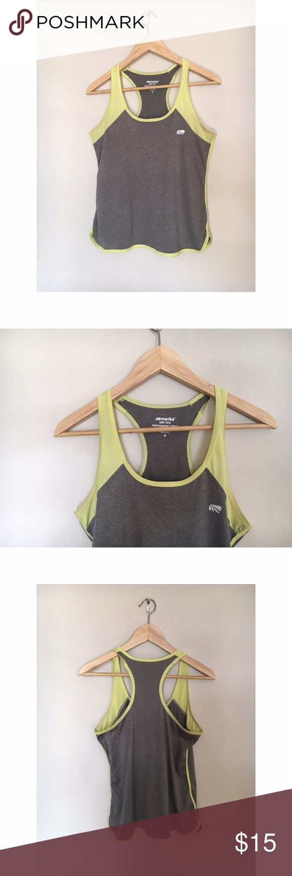 Tank top Yellow and gray athletic top Tops Tank Tops
