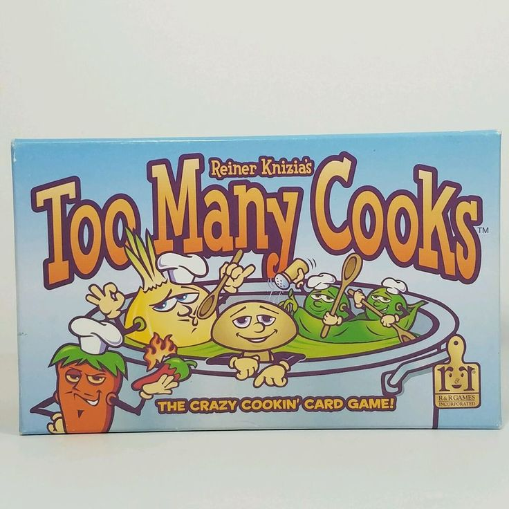 #forsale Reiner Knizia Knizias Too Many Cooks Card Game New Factory Sealed #reinerknizia #toomanycooks #cardgame #games #familytime #gaming #gamer #boardgames #cardgames #tabletop #cooking #dining #party #fun #gamenight #rrgames #chef #gift #giftsforhim #giftsforher #christmasgift #cooking #chefspecial http://ow.ly/PiaB30cRVWX