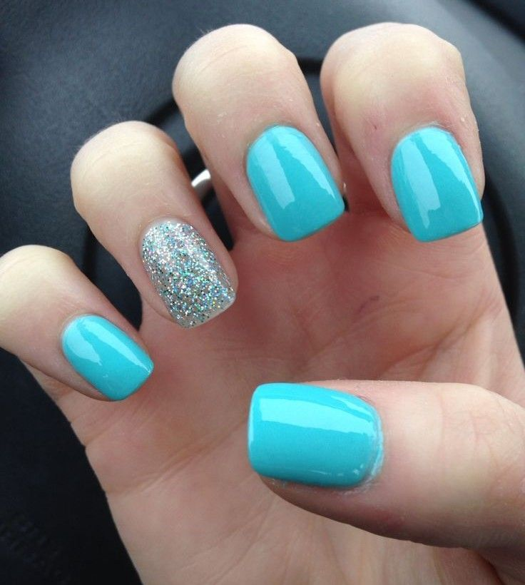 Blue Nail Polish One Finger: Best 25+ Simple Nail Designs Ideas On Pinterest