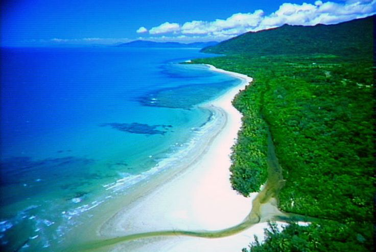 Cape Tribulation, ?Port Douglas - Northern Queensland.  Where the Rainforest meets the Ocean.  When I take kids through their first guided meditation, this is what I envision.  Definite Top 5