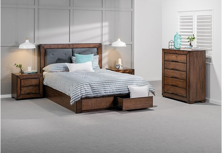 Boulder 4 Piece King Tall Chest Suite | Super Amart