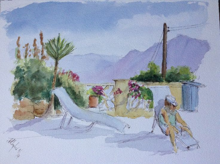 Pen and Wash 'on holiday'