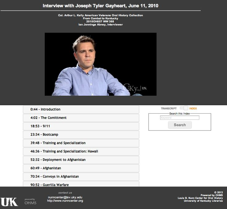 The OHMS Viewer: Indexed Interview