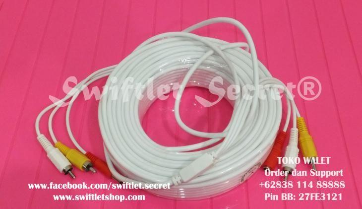 Kabel CCTV Video Audio Power Gulungan 30 Meter
