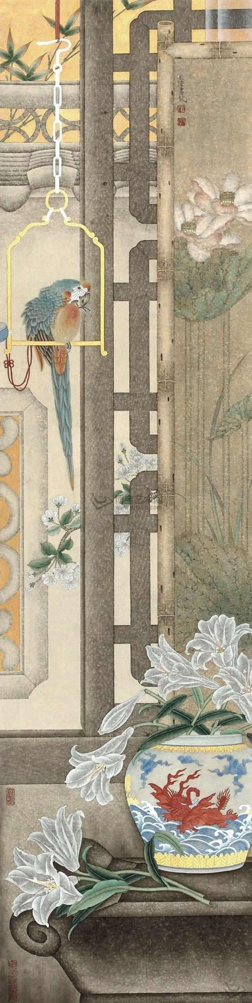 """[Живопись] Лю Hongwei """"аромат цветов и птиц статей Yayun"""" голландский танец востоку _ _ Сина блог _Qing свет"""