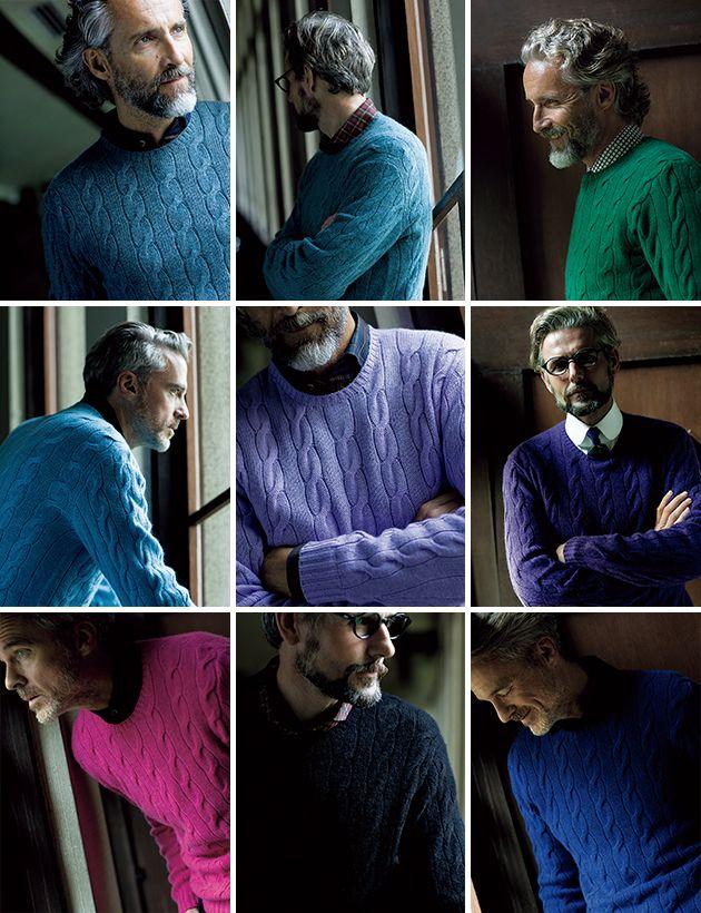 RALPH LAUREN PURPLE LABEL / cable knit sweater ラルフ ローレン パープル レーベル ポロ ラルフ ローレン アイウェア