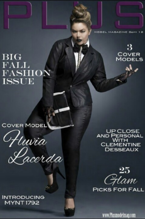 The Curvy Fluvia Lacerda On The Cover Of Plus Model