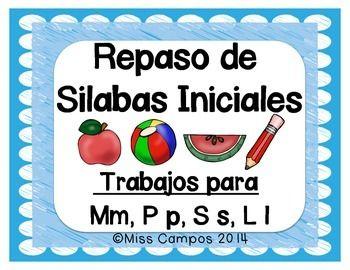 FREE - Clasificando Silabas Iniciales para M, P, S, L - GRATIS (ma me mi mo mu, pa pe pi po pu, sa se si so su, la le li lo lu)