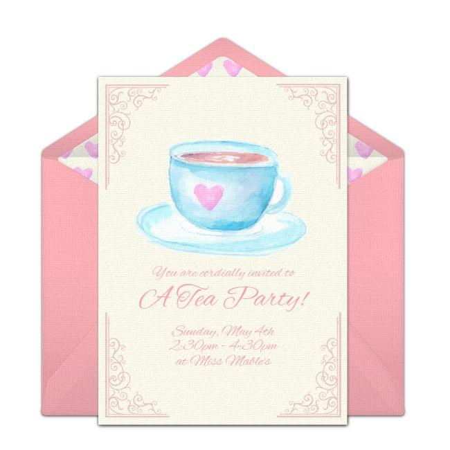 Free Tea Party Invitations