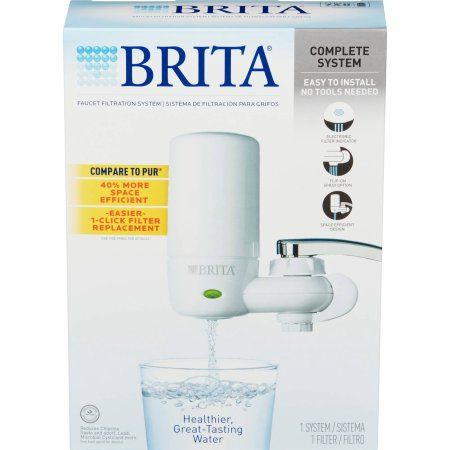 Brita On Tap Faucet Water Filter System, White, Multicolor
