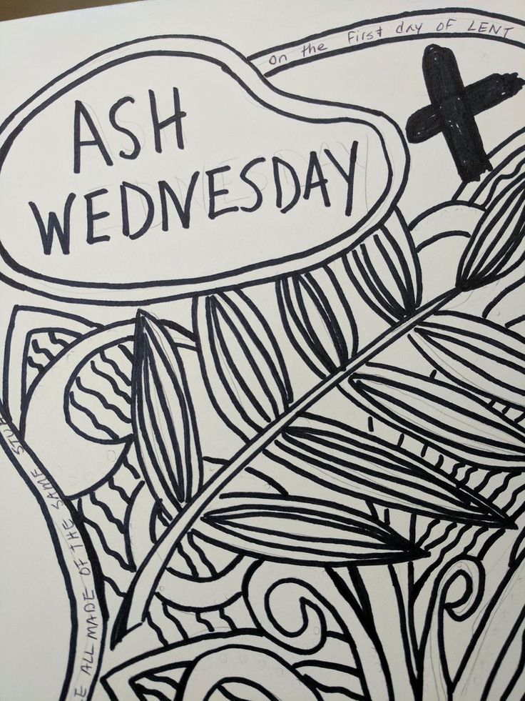 I went looking for an Ash Wednesday coloring page and couldn't find one I liked, so I created my own. You are welcome to download and print this one. (It was drawn on 9×12 paper, so shri…