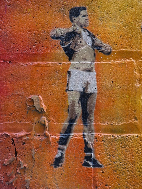 Nicky Winmar stencil, Blender Lane | Flickr - Photo Sharing!