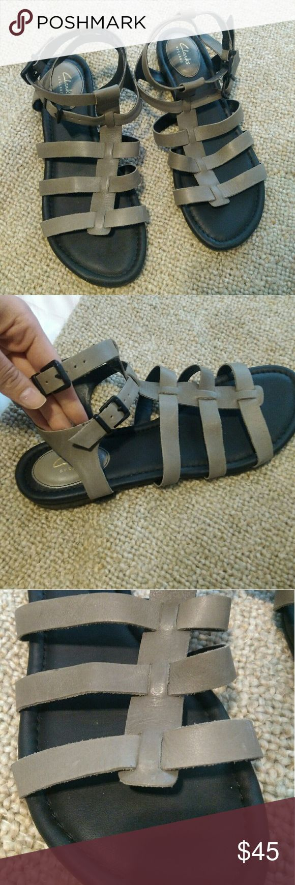 BNWOT Clarks sandals, size 12! Never actually worn besides trying on in the store. Beautiful leather, they were just a little too small  on me so they're on to the next girl. Let me know if you have questions or need measurements! Clarks Shoes