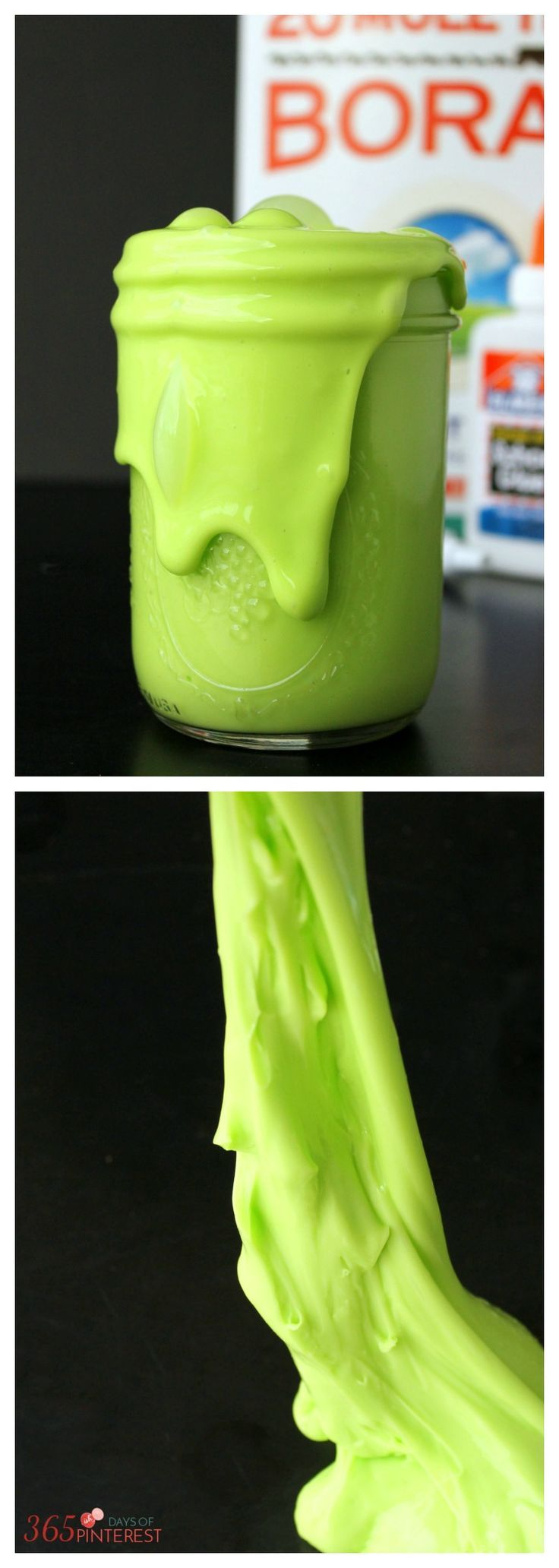 This homemade slime is so easy to do and definitely mess-free! You only need three ingredients (plus water) and you probably already have them sitting around your house!