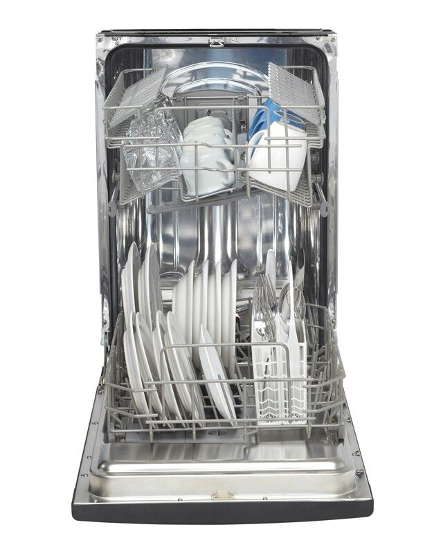 Danby dishwasher interior... It's small, but doable. Could maybe run it on solar power during the daytime.