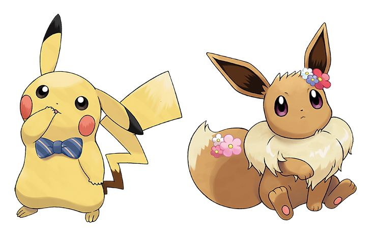 Play dress up with Pikachu and Eevee! You can give them various outfits, accessories, and even change their hairstyles. How they look is up to you! Pokémon: Let's Go, Pikachu! and Pokémon: Let's Go, Eevee! are available now. Pikachu Pikachu, Pokemon Mew, Pokemon Eeveelutions, Play Pokemon, Pokemon Stuff, Eevee Evolutions, Cute Pokemon Pictures, Pokemon Images, The Journey
