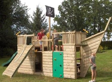 Children S Victory Pirate Ship Climbing Frame With Slide