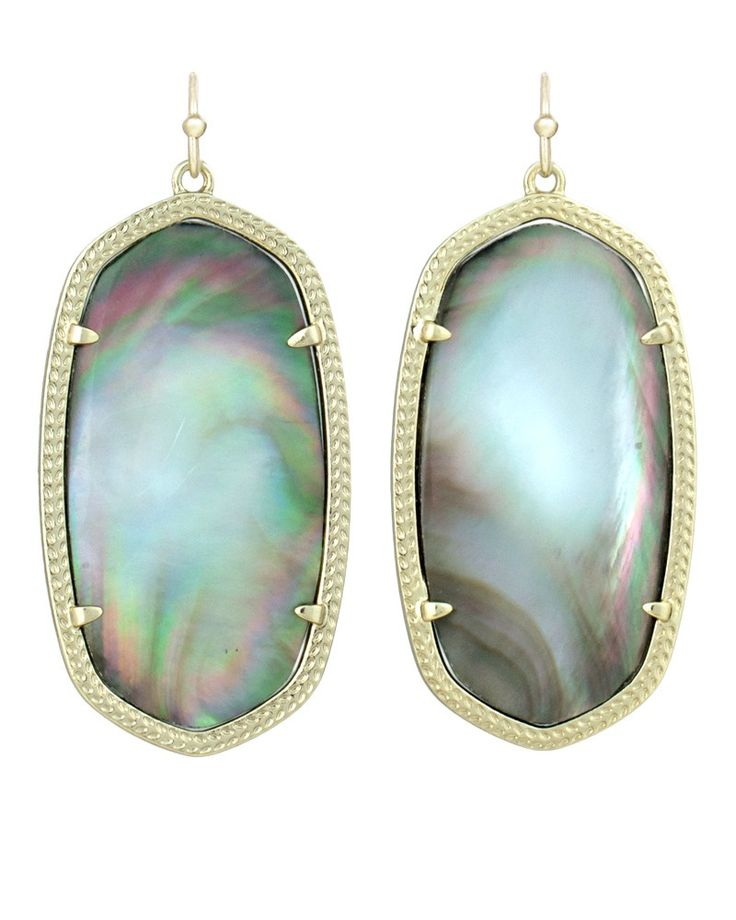 Be still my heart......limited edition Black Pearl Danielle earrings by @Kendra Henseler Scott  The abalone ones are amazing too!