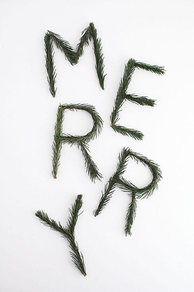 DIY 'Merry' Pine Garland and Christmas Decoration