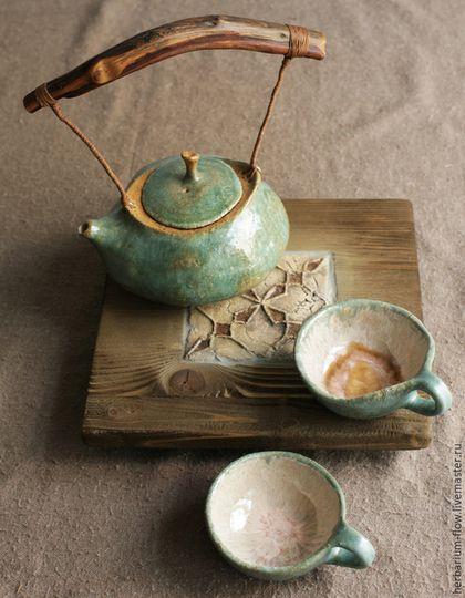 Сервизы, чайные пары ручной работы. нефритовый чайный набор. herbarium. Интернет-магазин Ярмарка Мастеров. Керамика herbarium, натуральный