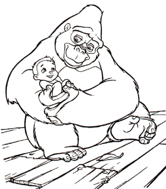 Baby Tarzan Coloring Pages