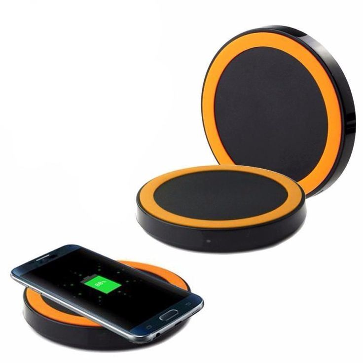 Qi Wireless Charging Pad (Black, White, Blue, Orange, Red, Yellow)