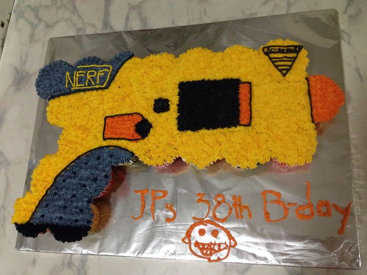 Nerf gun, made with my kids, we had a lot Of Fun! Perfect for a nerf outside party