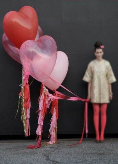 Giant heart balloons