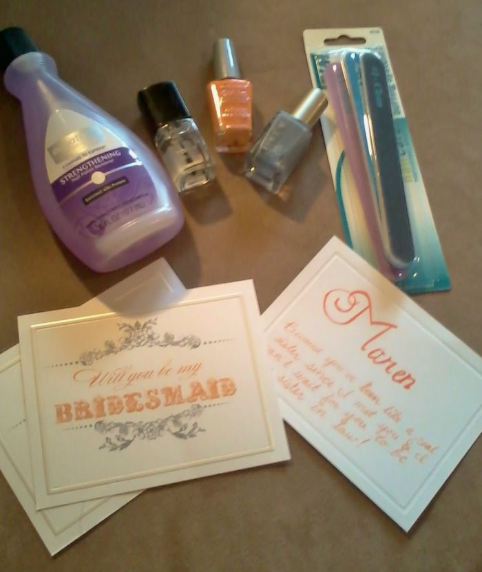 """Inexpensive Bridesmaid Gifts 
