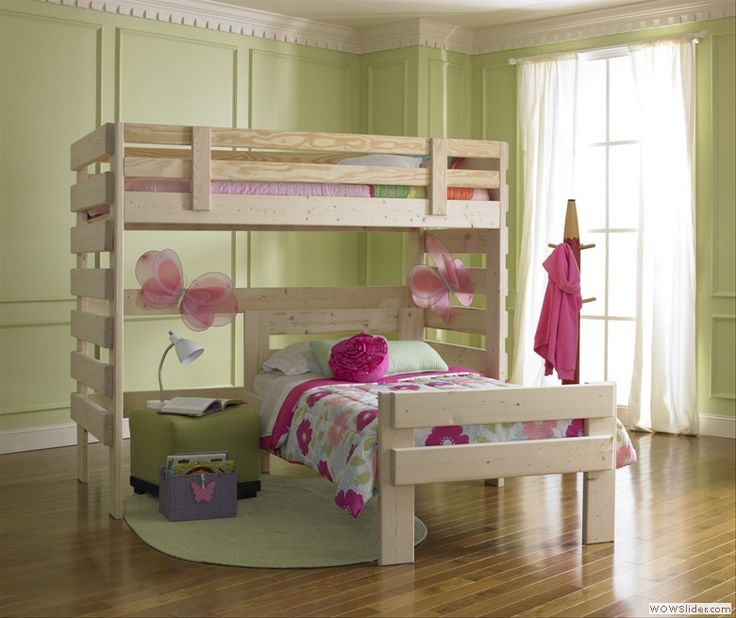 L Shaped Bunk Bed. To purchase call 1-800-BunkBed or click the image above.