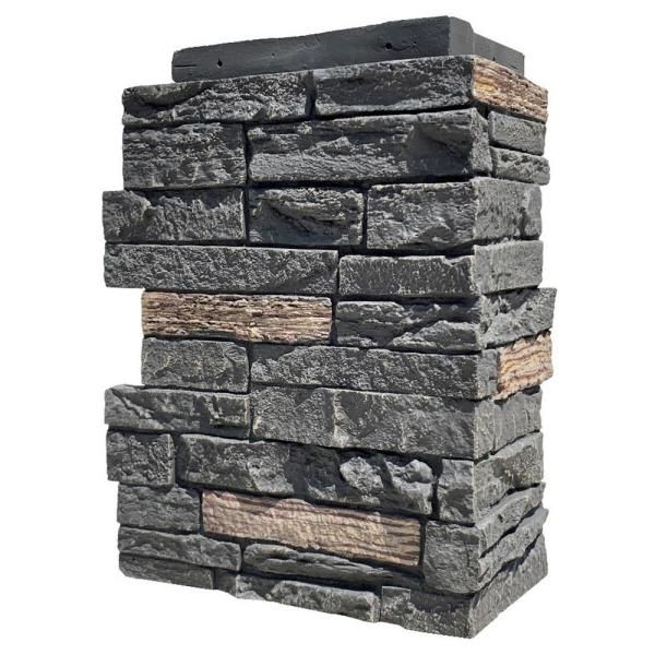 Nextstone Slatestone Large 11 5 In X 15 25 In Polyurethane Faux Stone Outside Corner In Midnight Ash 4 Pack Sls Oc L Ma 4 The Home Depot In 2021 Faux Stone Siding Stone Siding Faux Stone Panels