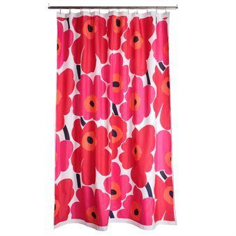 Køb Unikko-bruseforhænget fra Marimekko – badeværelset bliver som nyt! Unikko er det populære blomstrede mønster fra Marimekko, og som fås i flere skønne farver. Unikko-mønsteret fås som hel serie, og bruseforhænget kan fordelagtigt kombineres med håndklæderne i samme farve. Med Unikko kan du skabe rigtigt luksusfornemmelse i dit badeværelse!
