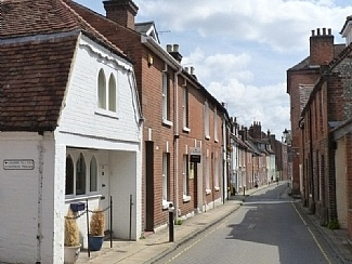 We moved to Winchester and stayed in the Old Schoolmaster's House on Canon Street,  an old historic street just round the corner from the Cathedral,  I used to walk through the Cathedral Grounds to get to the shops.  It was Idyllic!