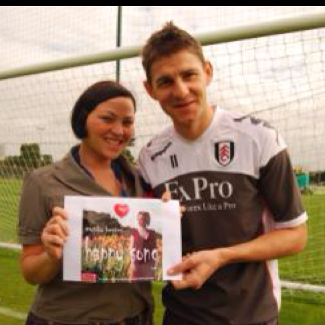 Pulled in Zoltan Gera of Fulham FC (2010) via his agent to help promote this single in aid of homeless projects by Hungarian singer-songwriter Monika Henter.  Dream come true for her to be endorsed by national hero and captain of Hungary.