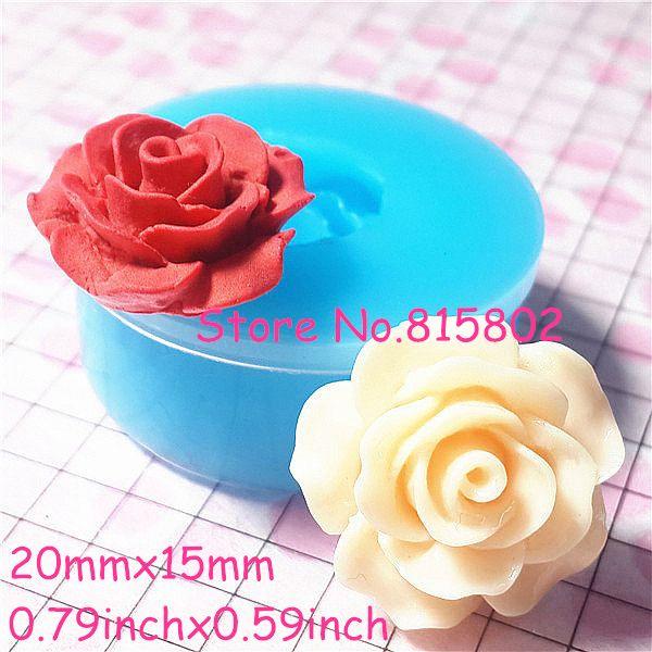 Pas cher Livraison gratuite HYL006U fleur / Rose Silicone moule 20 mm Polymer…