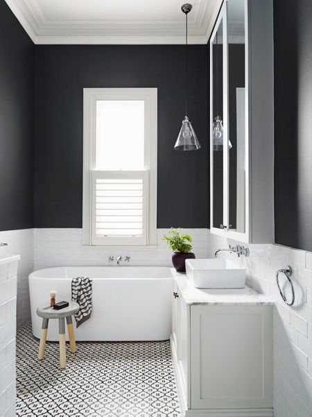 Black accentuates even more when used in conjunction with white or bright colours. But be careful - too much black can be overpowering. Rather keep it simple and paint a feature wall in flat / matt black.