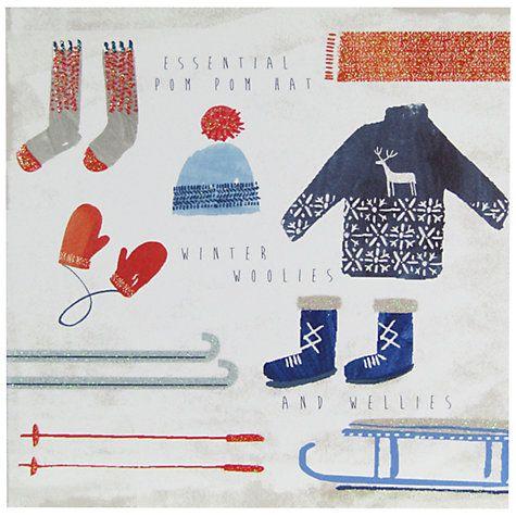 Buy John Lewis Winter Woolies Charity Christmas Cards, Pack of 6 Online at johnlewis.com