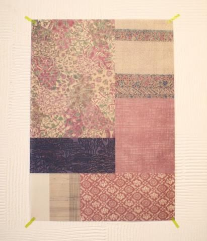 Japanese vintage kimono textile wrapping paper {Pink} | UGUiSU Online Store