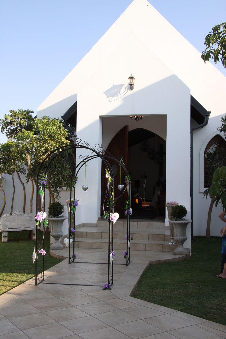 Church front entrance