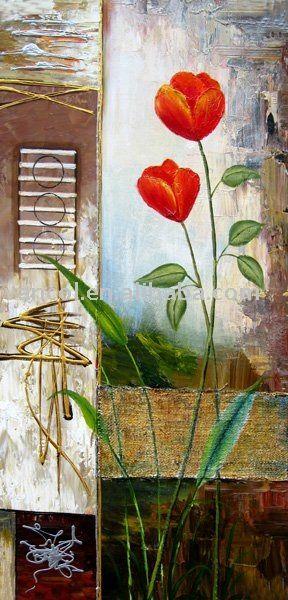 emoldurado em madeira abstrata moderna tela de pintura a óleo