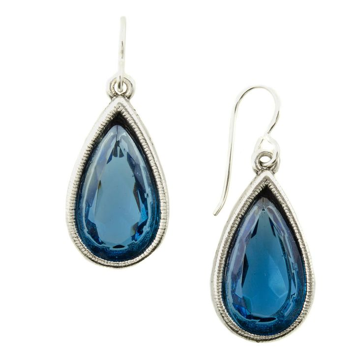Patricia Locke Soliloquy Earrings - Silver, Indicolite
