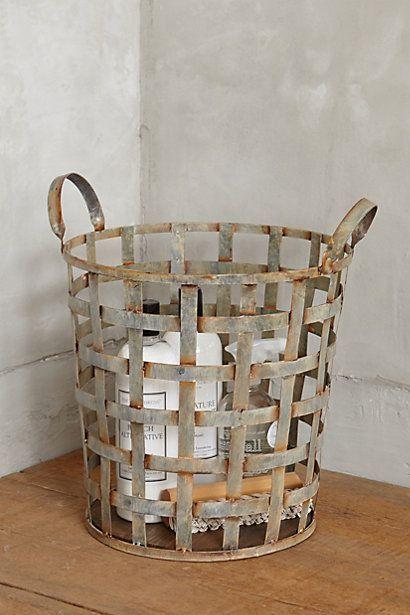 Metal storage basket - industrial style at its best   Home