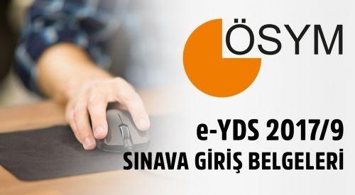 e-YDS 2017/9: Sınava Giriş Belgeleri Açıklandı