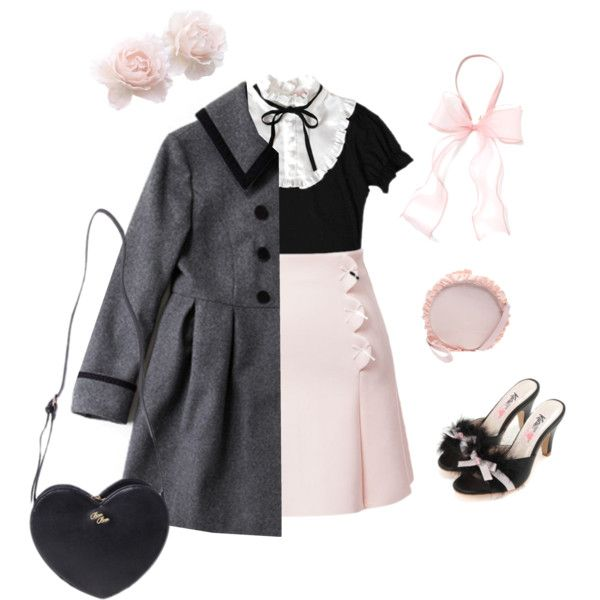 Blooming in Winter by sweetpasteldream on Polyvore featuring Mode, kawaii, jfashion, Larme and larmekei