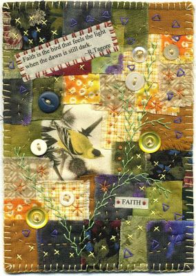 Baumcat: Crazy Quilt Art Wouldn't a crazy quilt with the young women's values be fun to do?