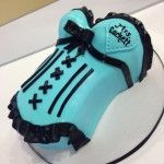 Shaped corset cake for bachelorette party