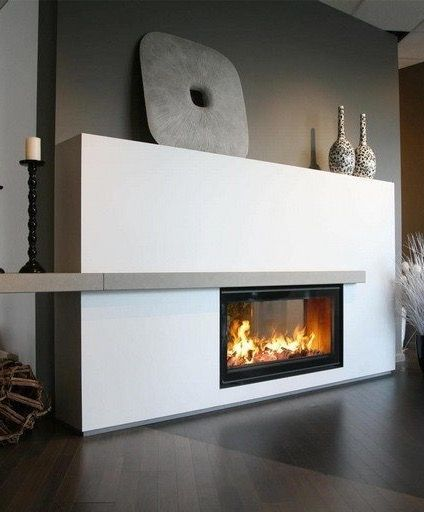 Black Candle Holders   Transform Your Spacious Space With A Double Sided  Fireplace