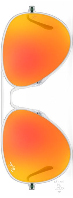 Ray-Ban Aviator Light Ray Orange Mirrored   LOLO❤︎