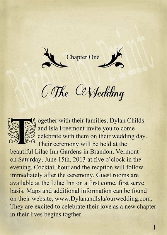 Love this idea...although this one is quite boring...and i wouldn't start with the wedding as chapter 1