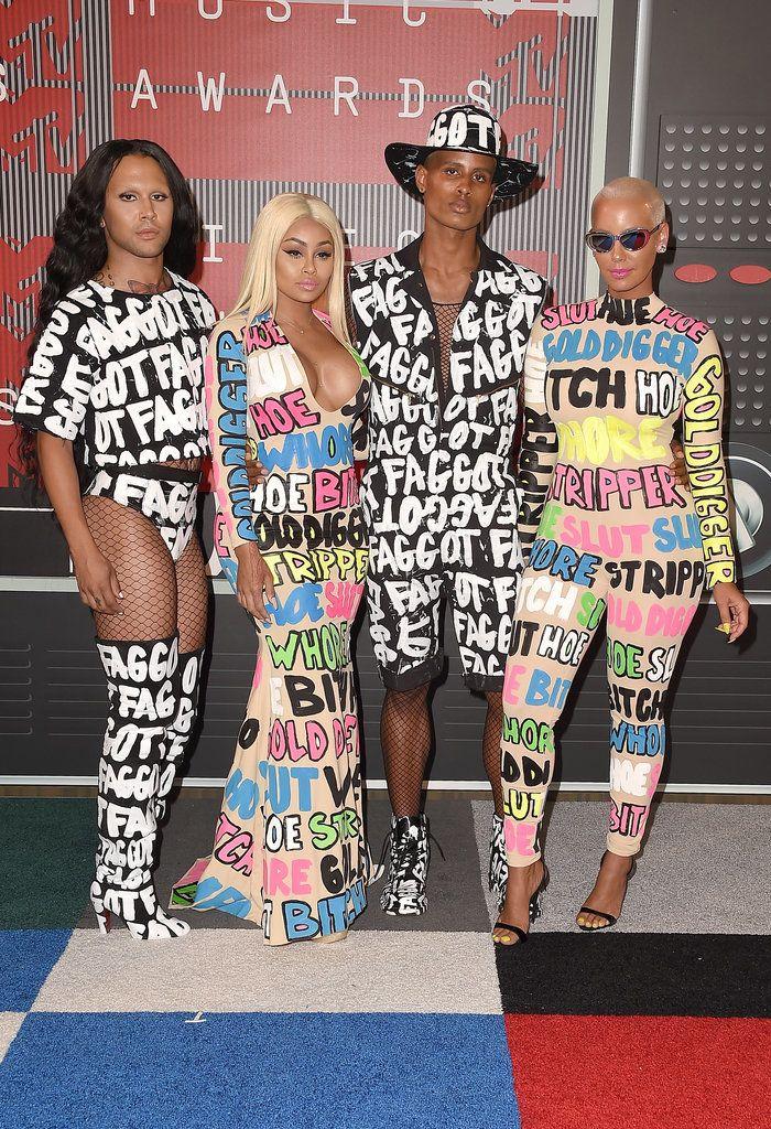Эмбер Роуз наряд на VMAs 2015 | POPSUGAR моды